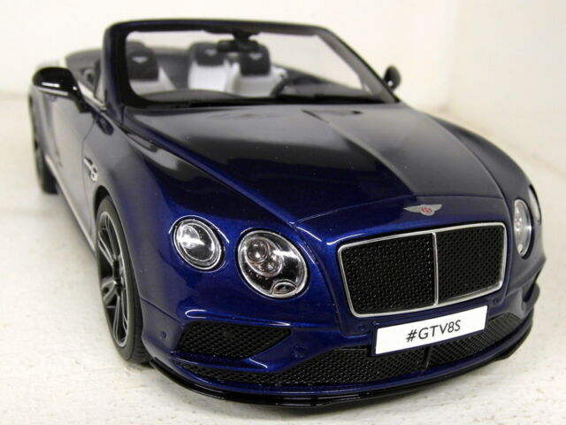 GT Spirit 1/18 Scale Bentley Continental GTV8S Cabrio Blue Resin cast Model Car