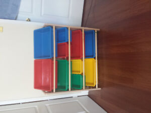 Kids Toy Organizer colourful bins $20