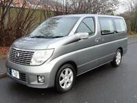 null Nissan Elgrand XL TOP OF RANGE LEATHER S/ROOFS CURTAINS 3.5 5dr