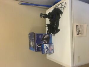 ace combat 7 with thrustmaster flight stick . ps4