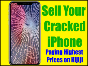 *** $75-$350 FOR DAMAGED OR BROKEN IPHONES ***