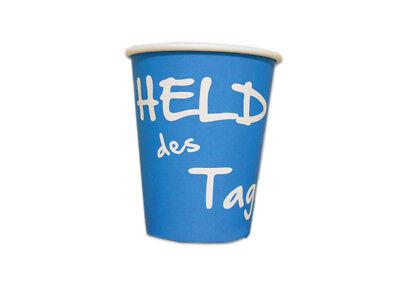 """1000 Stck. Coffee to go Becher 0 2 l mit Aufdruck """"Held des Tages"""""""
