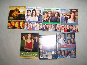Felicity Season 4, Dawson Creek Season 1, 4,5 & 6 Grey's Anatomy