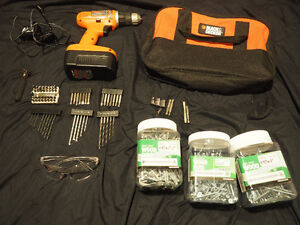 1 bag 1 drill with 1 battery 1 charger + all accessories on pic