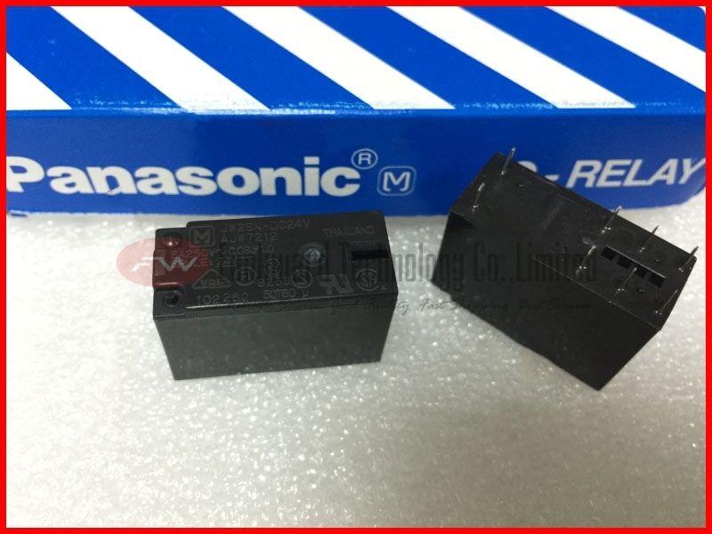 JW2ASN-DC12V General Purpose Relay 12VDC 5A 250VAC 6 Pins x 10pcs