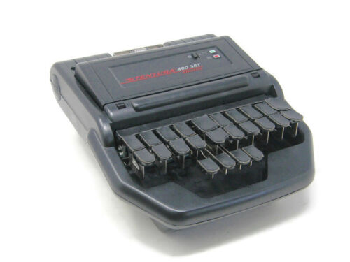 Stentura 400 SRT Stenograph w/Case, Stand, Trays; RealTime Capable Need Software