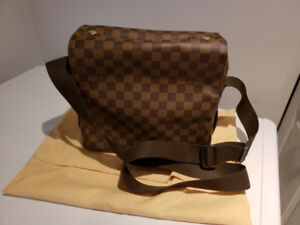 Authentic unisex Louis Vuitton Naviglio Damier Ebene Canvas