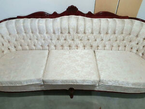 cherry wood couch