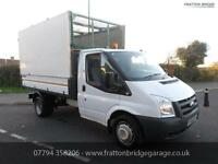 FORD TRANSIT T350 Tipper with removable cage F.S.H Low Miles, White, Manual, Die