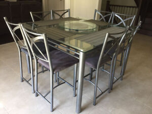 Square Glass kitchen table for sale