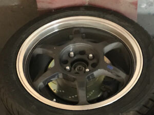 For sale 16x7 enkei rims with tires