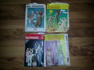 LOT OF 4 COSTUME PATTERNS