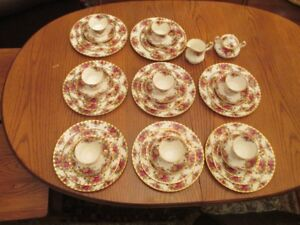 8 place  setting of Old Country Roses china