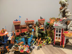 Huge Lot of Imaginext Toys - Playsets and Characters - SOLD