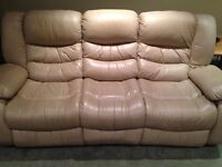 Leather Couches with side Recliners