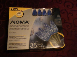 Blue LED Christmas Lights Indoor/Outdoor New in Box