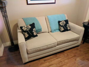 PULL OUT SOFA BED (DOUBLE) WITH BEAUTY REST MATTRESS!
