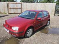 1999 Volkswagen Golf 1.6 S MK4 Petrol 5 Door Hatchback Red VW Spares or Repair