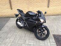 Matt Black Yamaha Yzf R125 09!
