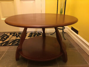 Thick Solid Wood Round Coffee Table.  ***SPECIAL***