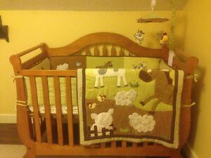 Crib bedding set 'Farmyard' theme