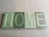 **Reduced price** 'Home' wall hanging print