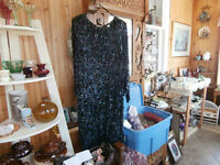 Vintage Silk Sequinned and Glass Beaded Dress at KeepSakes