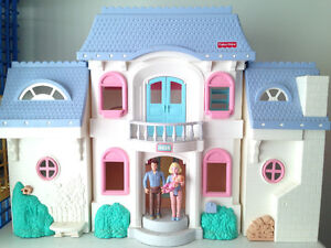 Large Fisher Price Doll House and accessories