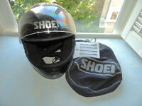 SHOEI M90 Black Helmet with Dow Cover