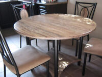 Rustic Modern Dining Dinnette Set 4 Chairs and table