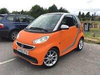 Smart Fortwo 0.8 CDI Passion 2013, RARE Matte Orange, 19,000 Miles, HPI Clear
