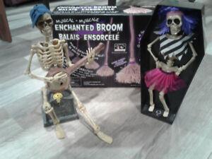 Bunch of Halloween decorations.
