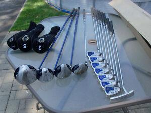 Ensemble de golf john daily 12 club gaucher
