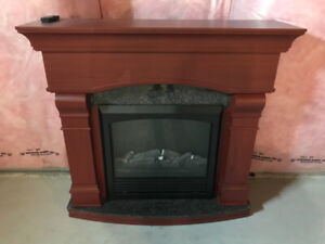Electric Fire Place with Granite