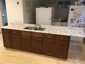 Real Wood Cabinet and Countertop Set