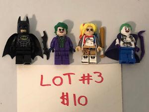 BRAND NEW!! ALL 4 BATMAN, JOKER, HARLEY QUINN LEGO MEN FIGURES