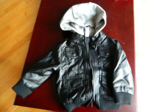 boy leather coat for autumn size 6-12 months