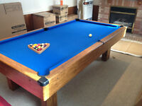 Pool Table Installation and Refelting