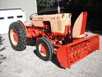 Case Tractor with blower