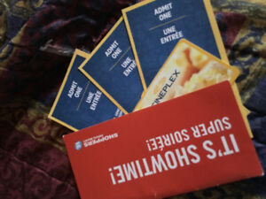 $25 cineplex giftcard & 3 admissions passes