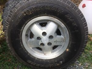 R15 Jeep Rim and like newYokohama Tire