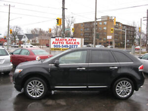 **2011 Lincoln MKX AWD**  Leather & Panoramic, Cert., & E-tested
