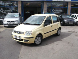 57 FIAT PANDA D 5YR 0% FINANCE NO DEPOSIT OR £1000 MINIMUM PX ALLOWANCE 9.9% APR