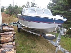 princecraft boat, motor and trailor for sale