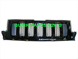 11-13 Jeep Grand Cherokee FRONT GRILLE BRILLIANT BLACK OEM NEW MOPAR GENUINE