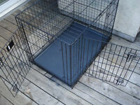 Wire Dog Crate/Cage Large 2-Door