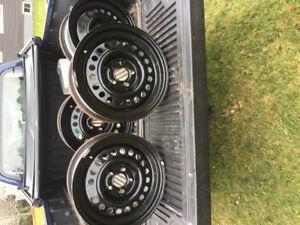 15 inch steels wheels