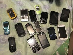 16 various phones for parts