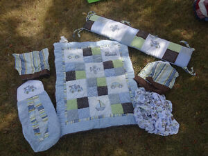 "Boy's ""Travel"" Crib Bedding Set"