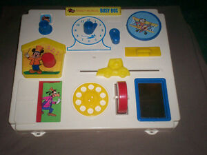 "RARE VINTAGE 1975 DISNEY ""BUSY BOX"" CRIB TOY MICKEY MOUSE"